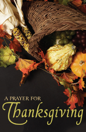 Prayer For Thanksgiving (Pack Of 25)