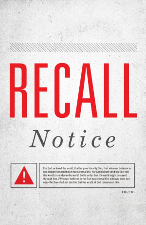 Recall Notice (Pack Of 25)