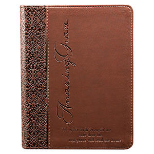 Journal Brown Amazing Grace Imitation Leather