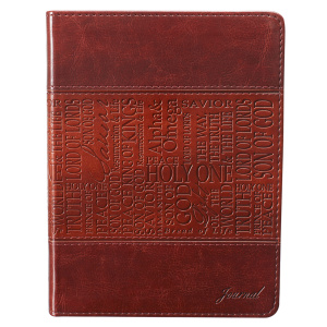 Names of Jesus (Brown) Flexcover Journal