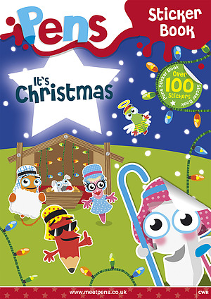 Pens Sticker Book: It's Christmas