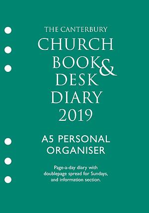 Canterbury Church Book & Desk Diary 2019 A5 Personal Organiser Edition