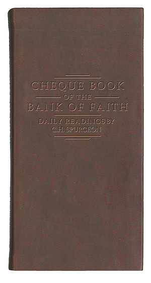 Chequebook At The Bank Of Faith Burgundy
