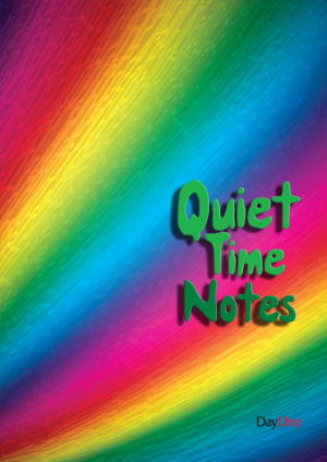 Quiet Time Notes Rainbow Cover Notebook