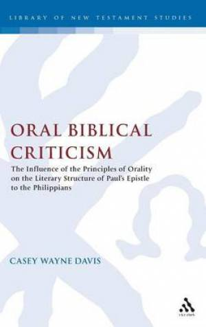 Oral Biblical Criticism