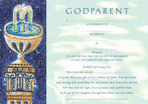 Common Worship Godparent Certificate Girl Traditional - Pack of 10
