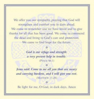 FUNERAL PRAYER CARDS PK50