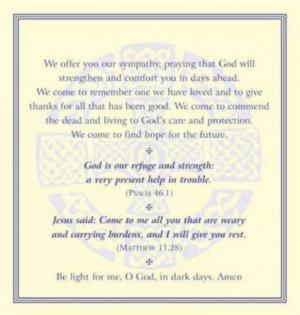 FUNERAL PRAYER CARDS PK50