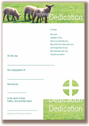 Infant Dedication Certificates - Pack of 10
