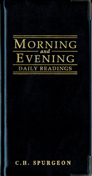 Morning and Evening: Black Cover