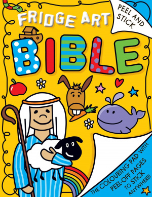 Fridge Art Bible - Peel and Stick Colouring Book