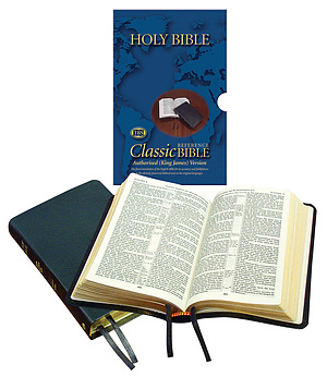 KJV Classic Reference Bible: Black, Bonded Leather
