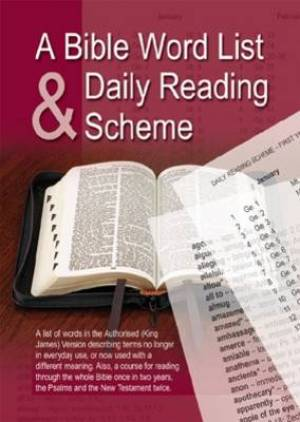 Bible Word List and Daily Reading Scheme