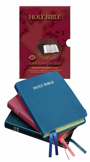 KJV Text Bible: Black, Bonded leather