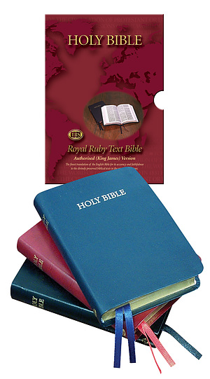 KJV Text Bible: Red, Bonded leather