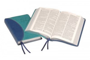 KJV Text Bible: Blue two-tone Imitation leather