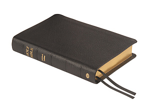 KJV Text Bible with Metrical Psalms: Black, Calfskin