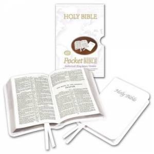White Pocket Calfskin Reference Bible Authorised (King James) Version