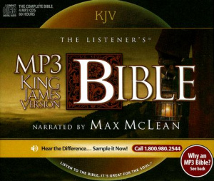 KJV Listener's Bible on CDs for MP3