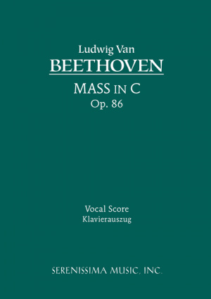 Mass in C, Op. 86 - Vocal Score