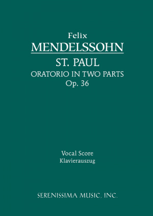 St. Paul, Op. 36 - Vocal Score