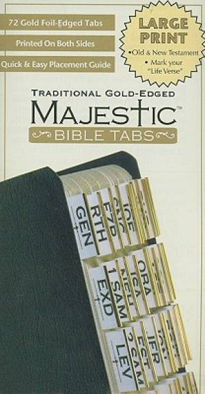 Bible Tabs Large Print Traditional Gold