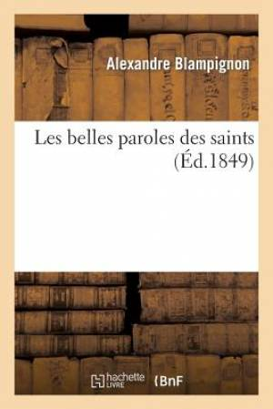 Les Belles Paroles Des Saints