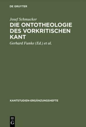 Die Ontotheologie Des Vorkritischen Kant