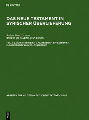 2. Korintherbrief, Galaterbrief, Epheserbrief, Philipperbrief Und Kolosserbrief