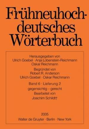 Fruhneuhochdeutsches Worterbuch. Band 6, Lieferung 2