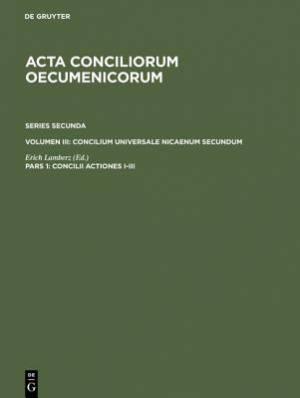 Concilii Actiones I-III