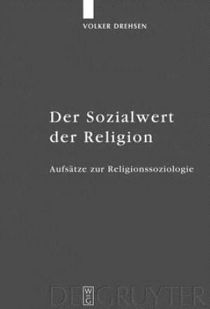 Der Sozialwert Der Religion