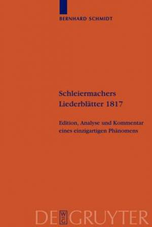 Schleiermachers Liederblatter 1817