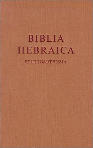 Biblia Hebraica Stuttgartensia: Large Print Edition