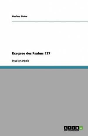 Exegese Des Psalms 137