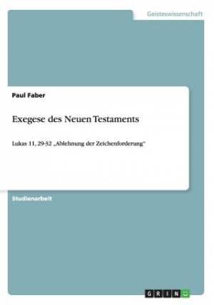 Exegese Des Neuen Testaments