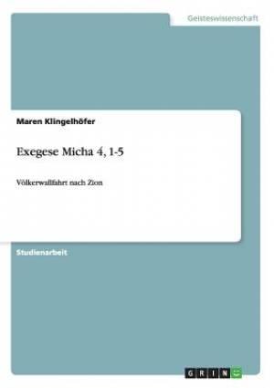 Exegese Micha 4, 1-5