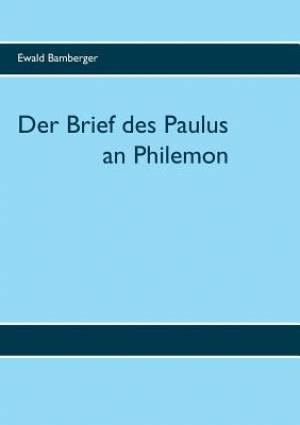 Der Brief des Paulus an Philemon
