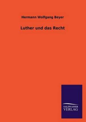 Luther Und Das Recht