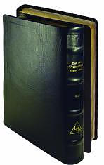 KJV New Thompson Study Bible: Black with Gold, Genuine Leather