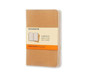 Kraft Moleskine Pocket Ruled Cahier Journal Set