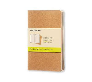 Kraft Moleskine Pocket Plain Cahier Journal Set