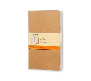 Kraft Moleskine Large Ruled Cahier Journal Set