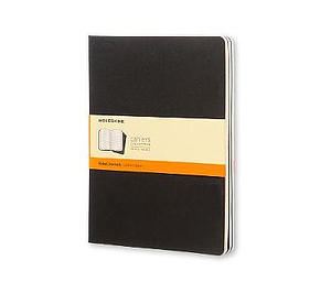 Black Moleskine Extra Large Ruled Cahier Journal Set