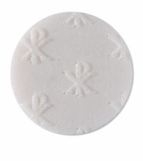 Peoples Altar Bread All Over Cross - White Kyro - Pack of 250