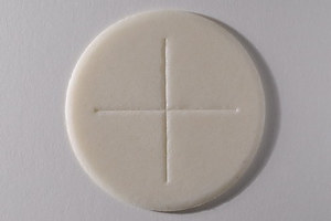 Peoples Altar Breads Single Cross - White - Pack of 900