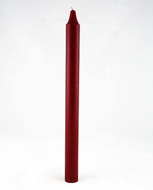 Red Advent Candle Plain (Each)