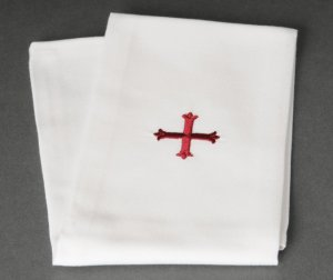 Red Cross Design Lavabo Towel