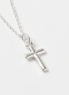 Tiny Silver Cross Pendant