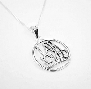 I Am Loved Silver Pendant